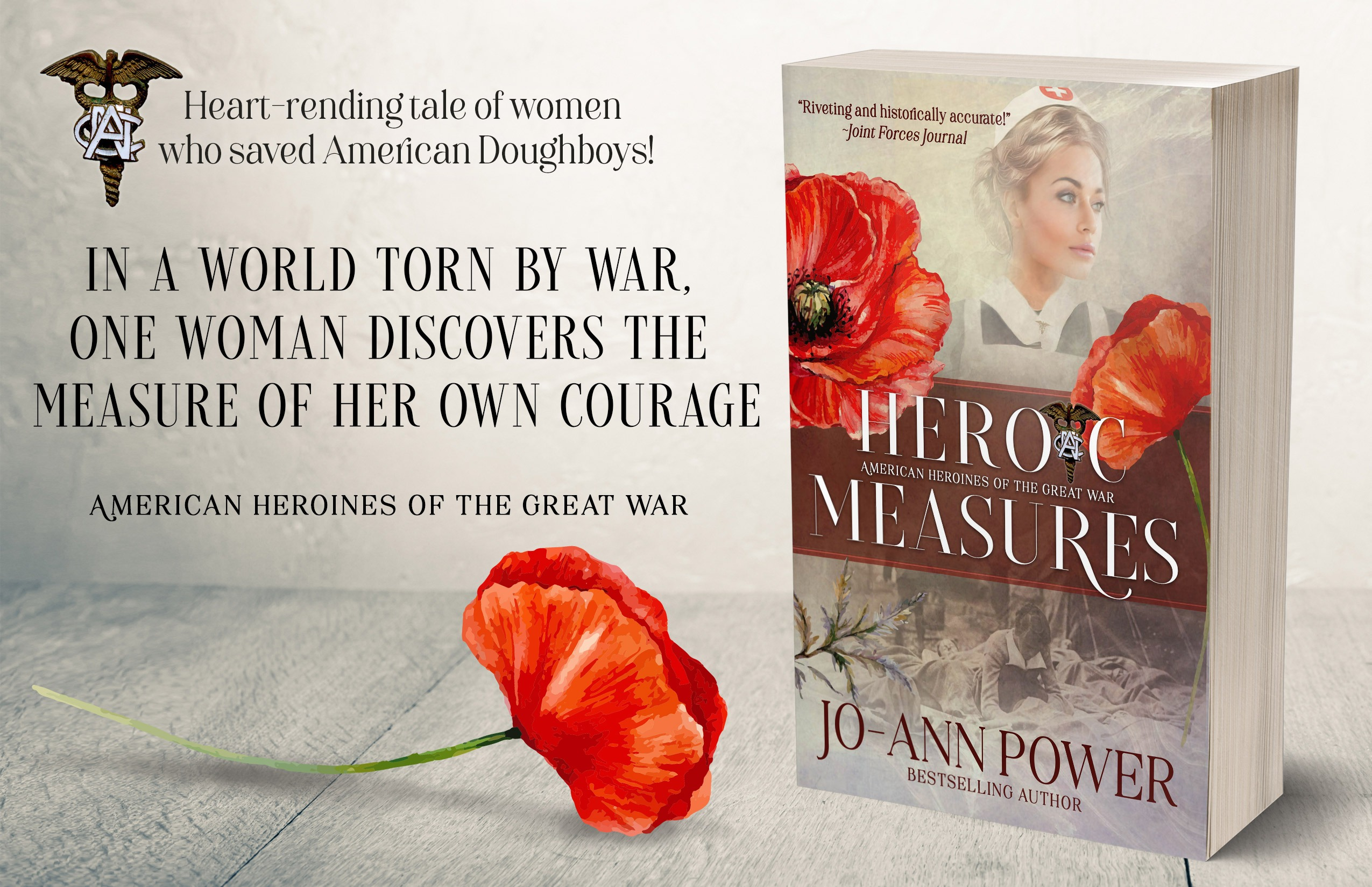 HEROIC MEASURES by Jo-Ann Power ad-half-page